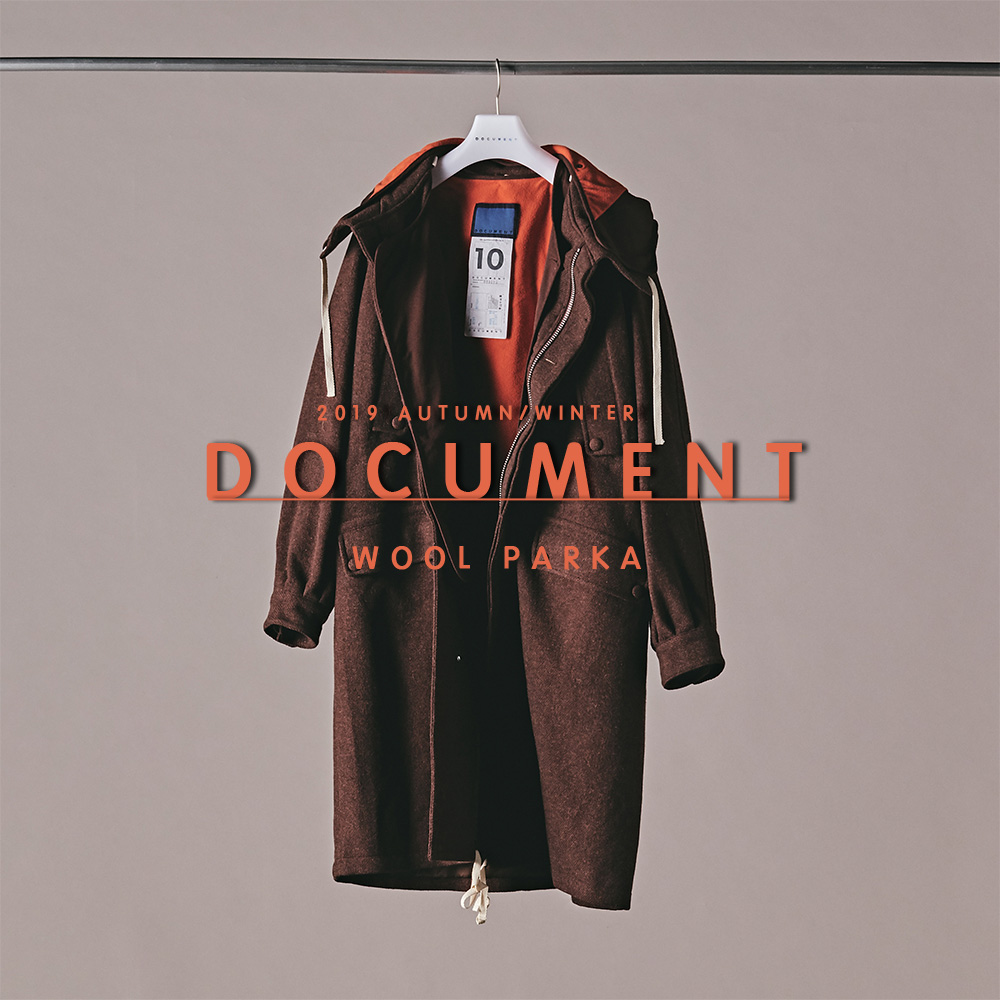 [NEW ARRIVALS] 2019 A/W DOCUMENT WOOL PARKA
