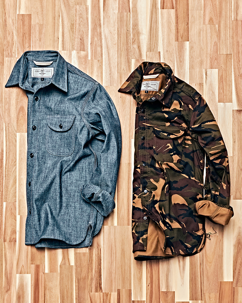 [ROGUE TERRITORY] WORK SHIRTS Canvas&RAF Camo